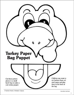 Bunny Paper Bag Puppet with Free Printable Template
