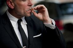 Nick Wooster. (Smoking kills your lungs and makes you die a slow, wheezing death while watching active life all around you.) Nice Stach though.