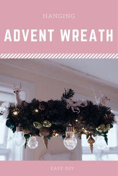 hängender Adventskranz, Adventskranz ohne Kerzen, Katzensicherer Adventskranz, Adventskranz mit Glühbirnen, selbstgebastelter Adventskranz, moderner Adventskranz, Adventskranz DIY, Lifestyle Blog, Like A Riot, hanging advent wreath, modern advent wreath