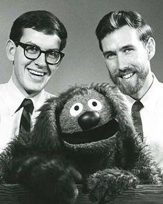 Frank Oz, Jim Hensen and Rowlf... 1962.