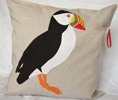 Puffin Applique Cushion  £79.99