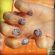 Leopard on Gelish by Wah Nails (London)