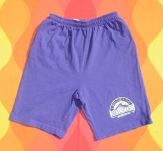 vintage 90s shorts COLORADO ROCKIES mlb baseball kids Large adult Small hummer purple Baseball Kids, 90s Shorts, Beach Boardwalk, Colorado Rockies, Purple Shorts, Vintage Shorts, Hummer, Mlb, Legs