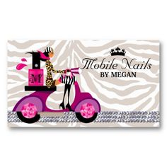 Nail Salon Business Card | Business Cards and Holders | Pinterest ...