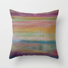 Sorbet Throw Pillow by  JESSIE SCHULLER  - $20.00