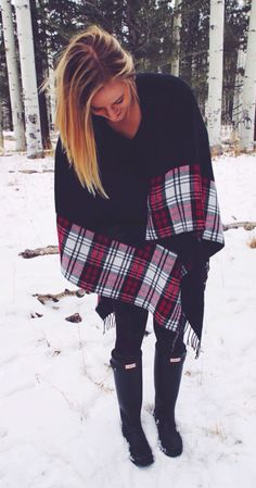 sweater cape + hunters