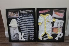 Newborn Shadow Boxes so cute!