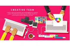 Check out Creative team. Young design team by robuart on Creative Market