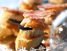 Toasts de Saint-Jacques truffées