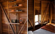 'mudgee permanent camping' dwelling by casey brown architecture Secluded Cabin, Studio Shed, Little Cabin, Cabins And Cottages, Bedroom Loft, Cabin Homes, Cabins In The Woods, Architect Design, Modern Rustic