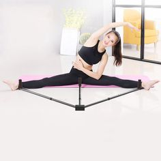 Yoga,Dance MMA Taekwondo /& Gymnastics Ship from US!!! Flexibility Stretching Machine Stretching Equipment for Ballet Atezch 3 Bar Leg Stretcher Leg Split Extension Device Iron Leg Support