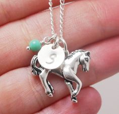 Horse Necklace Pony necklace Horse Charm Necklace by MadiesCharms