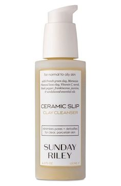 Sunday Riley 'Ceramic Slip' Cleanser. I love this cleanser. It makes my skin feel silky smooth and yet so clarified.