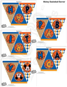 Mickey Mouse Basketball Banner by MetroEvents on Etsy, $5.98
