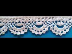 *** PUNTILLA NUM - 61 - YouTube Crochet Edging Patterns, Crochet Lace Edging, Crochet Borders, Lace Patterns, Crochet Trim, Love Crochet, Crochet Designs, Crochet Doilies, Crochet Flowers
