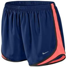 Nike Tempo Short - Women's - Night Blue/Volt/Black/Matte Silver