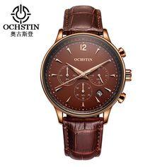 OCHSTIN Men Watch Luxury CHRONOGRAPH Function Date Leather Sport