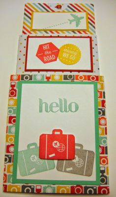 Triple Tier Slider Card for the Traveller