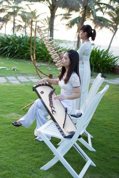 Traditional Vietnamese instruments played by musicians throughout your wedding afternoon. #HoiAnEventsWeddings #HoiAn #VietnamBeachWeddings