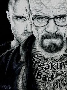 metal canvas Pop art breaking bad breakingbad walterwhite walter white tv show heisenberg jesse pinkman tattoo gun
