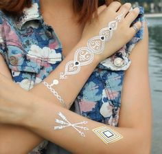 Tatuaże Boho Golden Dot Mehendi Set - Bright-Boho - Pozostałe