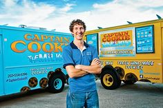 """Kirk Francis says his wife named his cookie truck business """"Captain Cookie & The Milkman."""" He has four trucks and a store in Washington, D.C."""