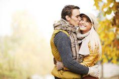 Autumn kiss love cute couples kiss outdoors trees autumn
