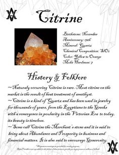 Cirtine Meaning Gemstone Meanings History Facts Legend and Folklore of Gemstones and Gemstone Jewelry by AlphaVariable Citrine Crystal Meaning, Crystal Healing Stones, Crystal Magic, Crystal Meanings, Crystal Grid, Gemstones Meanings, Gems And Minerals, Crystals Minerals, Crystals And Gemstones