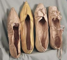 Early 1800s slipper shoes