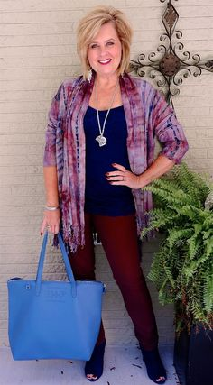 50 IS NOT OLD | BRINGING WINE TO CHARLESTON | Cardigan | Fringe | Navy & Wine | Fashion over 40 for the everyday woman