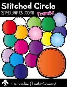 Stitched Circle Frames Clip Art! You will LOVE these cheerful graphics that are so much FUN! They are absolutely perfect for adding to your TpT products, newsletters, literacy and writing stations, activities, printables and student worksheets, class party invitations, etc. *********************************************************************************There are 22 great graphics included in this download.