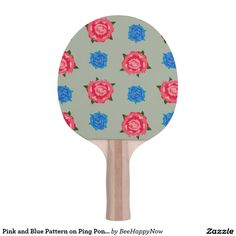 Pink and Blue Pattern on Ping Pong Paddle Ping Pong Table Tennis, Ping Pong Paddles, Pattern, Pink, Blue, Design, Patterns, Hot Pink, Model