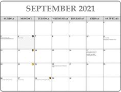 September 2021 Moon Phases Calendar – New Moon and Full Moon Calendar New Moon Calendar, 12 Month Calendar, 2019 Calendar, Gold Star Mother, Lunar Phase, Good Neighbor, Work Activities, Scientific Method, Family Day