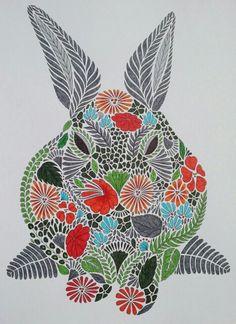 Rabbit From Millie Marottas Animal Kingdom Coloring BooksAdult