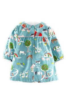 Mini Boden Corduroy Print Dress (Baby Girls) | Nordstrom