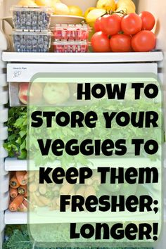 I swear, sometimes I feel like I live at Meijer! Eating healthy is hard enough without having to make a trip to the grocery store every couple of days because your fruits & veggies are spoilin...