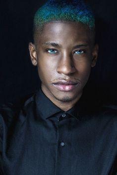 Black Men Blue Hair Trend3