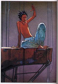 Akira by Moebius