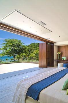 Luxurious bedroom with ocean view