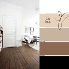 Living Room Color Story Irish Cream Walls, taupe and brown bed spread and black & white accents