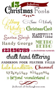 15 Fantastic Christmas Fonts - Fun, Festive and Fabulous Christmas Fonts Funky Fonts, Cool Fonts, Gratis Fonts, Typographie Fonts, Christmas Fonts, Christmas Doodles, Christmas Crafts, Merry Christmas, Computer Font