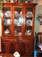 Vintage Dark Stain China Hutch Local Pick Up by JenCinAntiques, $200.00