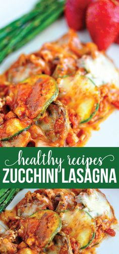Healthy Recipes - super delicious main dish that's easy to make.  Zucchini Lasagna from www.thirtyhandmadedays.com