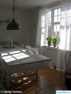 Pretty white curtains