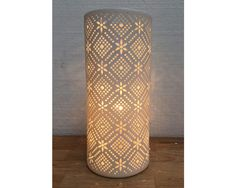 Lace Porclain Lamp
