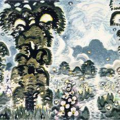 CHARLES BURCHFIELD Fireflies And Lightning (1964-65)