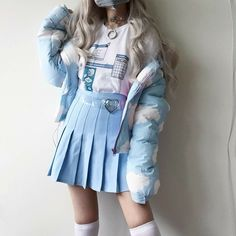 My Stepbrother ✓ ( vkook/Taekook) - - where jungkook likes to crossdress and his biological brother Taehyung always having a problem down there because of ju. Harajuku Fashion, Kawaii Fashion, Lolita Fashion, Cute Fashion, Girl Fashion, Fashion Styles, Mode Outfits, Korean Outfits, Grunge Outfits