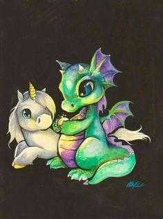 Baby Unicorn and Baby Dragon.