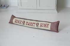Shaker Home Sweet Home Padded Draft Excluder