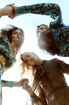 The 70's Hippie Trio: Hannah, Stephanie and Jessie by Olivier Yoan for Harper's Bazaar Vietnam August 2015